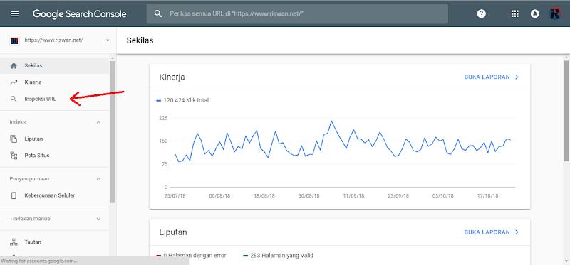 Kedua, Cara Submit URL di Google Search Console Yang Baru