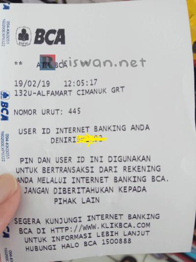 Tutorial Daftar Internet Banking BCA di ATM