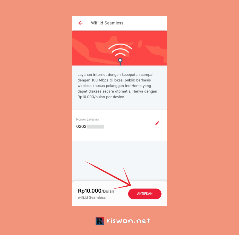 Daftar Wifi.id Seamless Melalui Aplikasi My Indihome