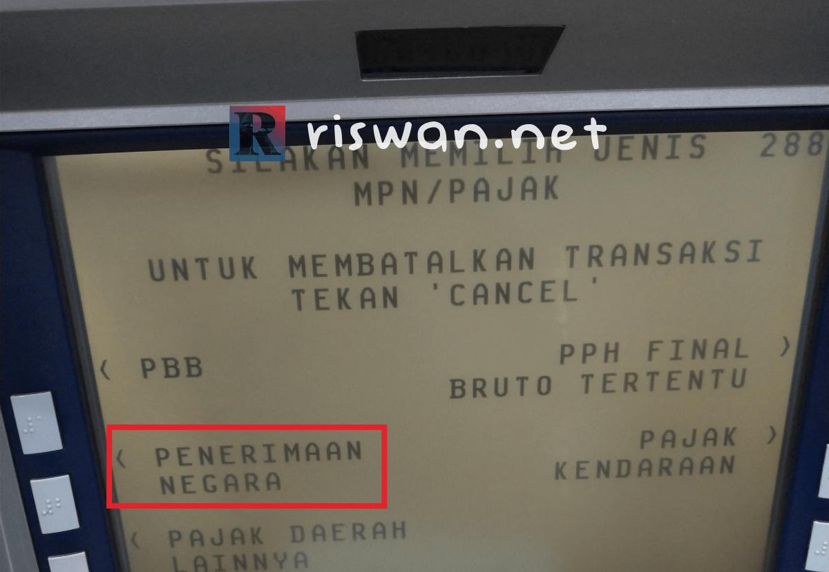 Langkah-langkah bayar paspor di ATM BCA