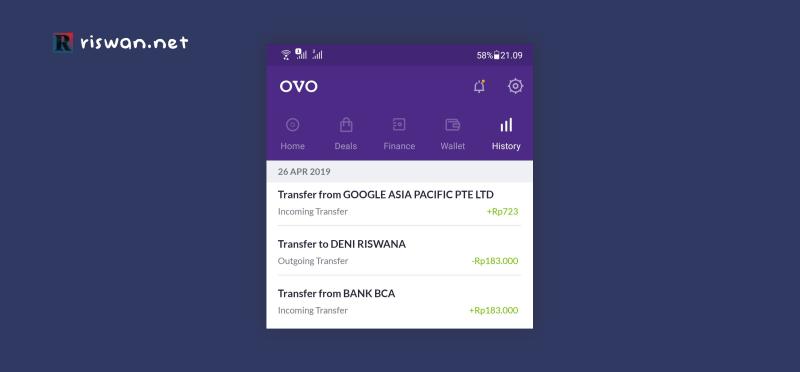 Transfer Adsense ke OVO
