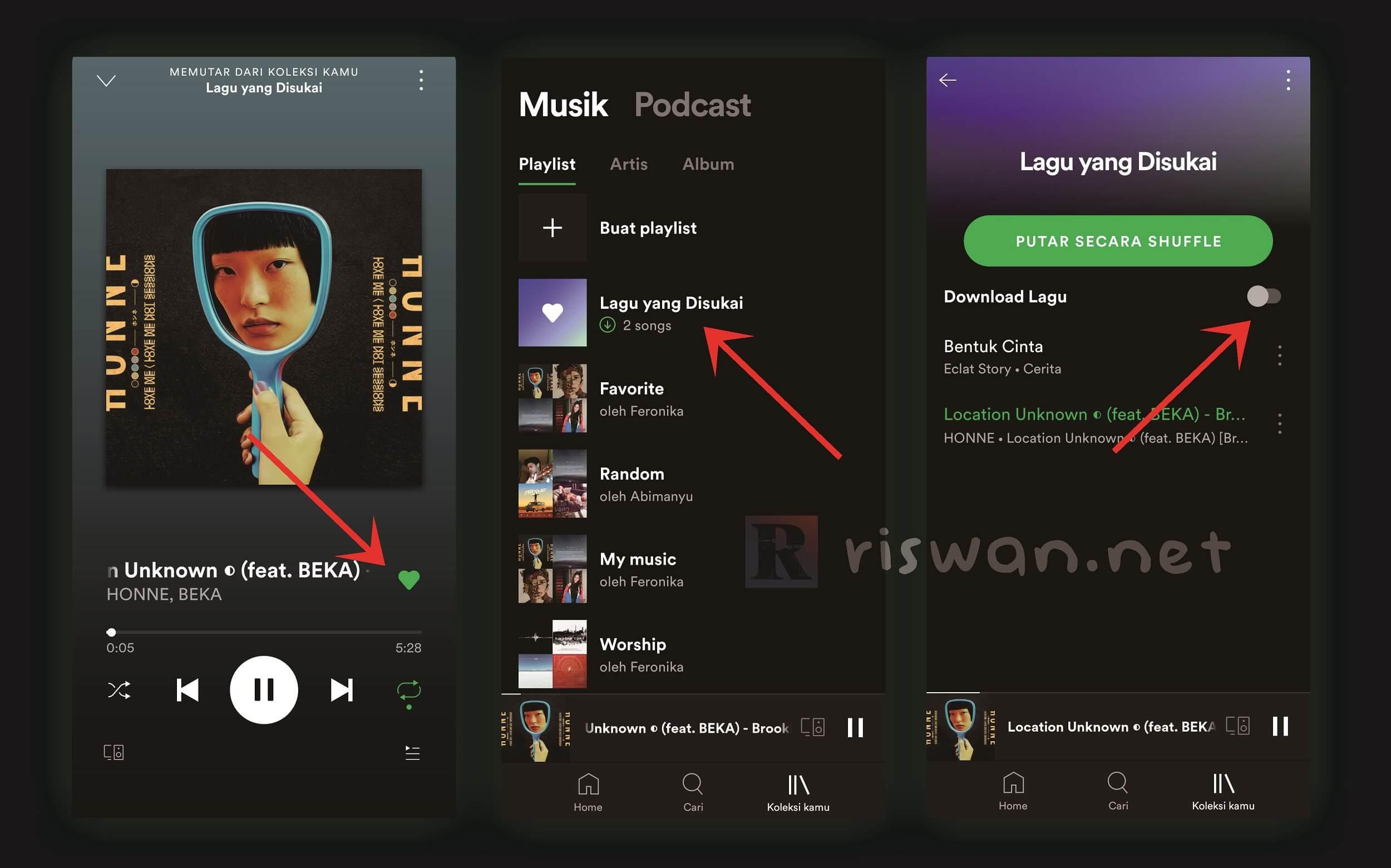 Cara Download Lagu Spotify di HP android